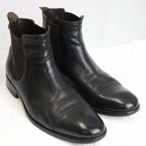 Cole Haan mens black leather boots Size 7.5 medium